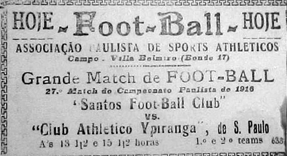 O jogo inaugural da Vila Belmiro completa 115 anos   Santa Portal